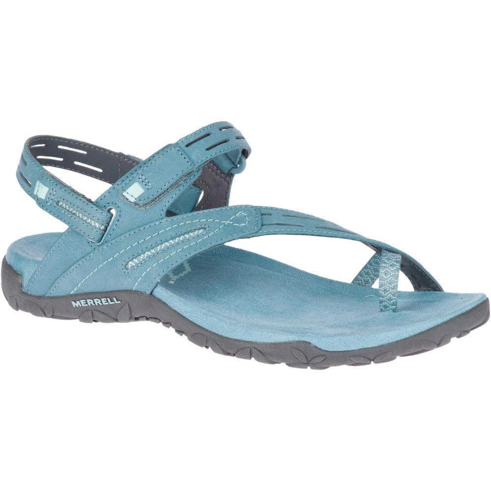 3470a837ad2b9 Womens Terran Convertible II Blue Smoke Velcro Toe Loop Sandals J90560