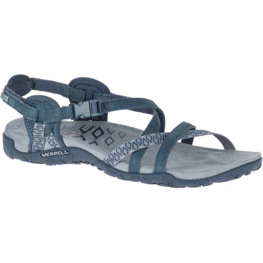 fab6ccfa31c Merrell Merrell Womens Terran Lattice II Slate Velcro Adjustable Crossover  Sandals J98758