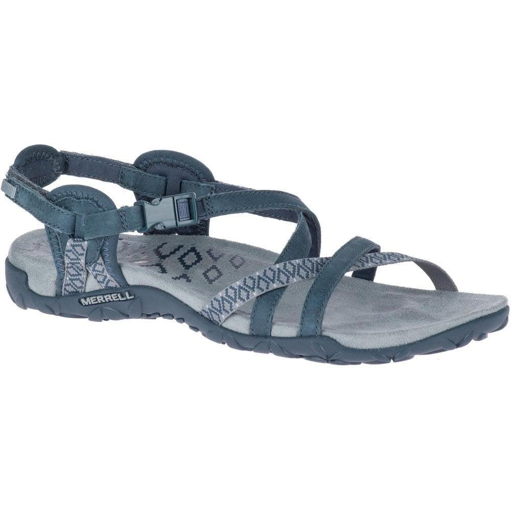 6614df9c933c Merrell Merrell Womens Terran Lattice II Slate Velcro Adjustable Crossover  Sandals J98758