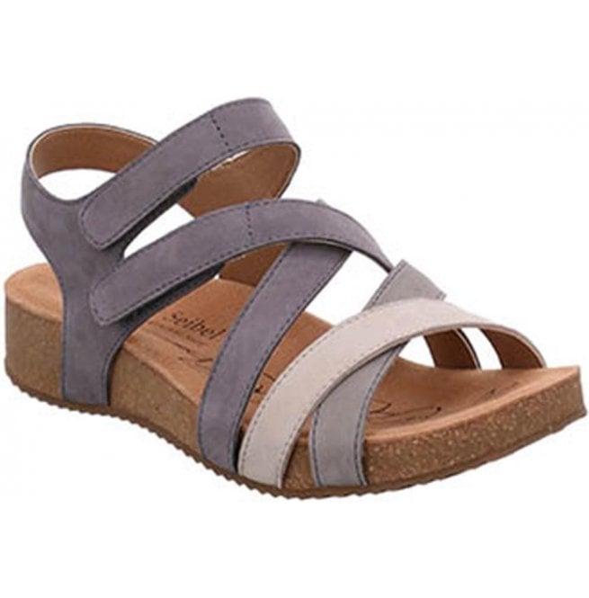 aa259beb230d Josef Seibel Josef Seibel Womens Tonga 37 Grey Velcro Sandals 78537 724 710