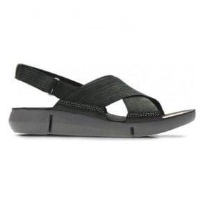 b2fa4ca300b Clarks Womens Tri Chloe Metallic Silver Leather Wedge Sandals 26131294