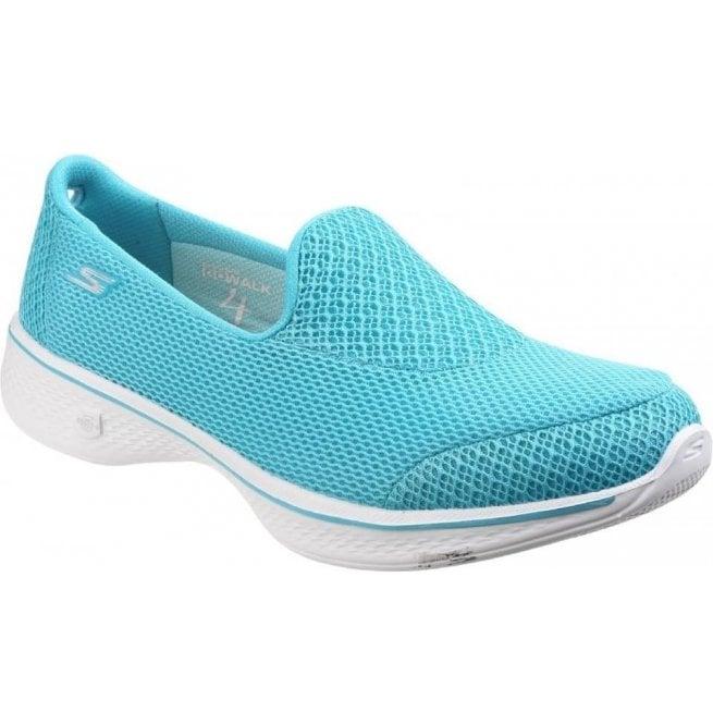 6cf812e278d3 Skechers Womens Turquoise Go Walk 4 - Propel Walking Shoes SK14170