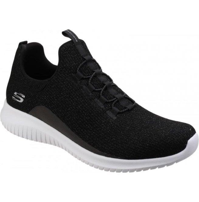 Skechers Womens Black Ultra Flex Slip
