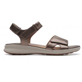 c3a970df32921 Womens Un Adorn Calm Pebble Metallic Leather Sandals 26141714