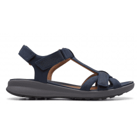 dfef3639bb3 Womens Un Adorn Vibe Navy Nubuck Sandals 26141721
