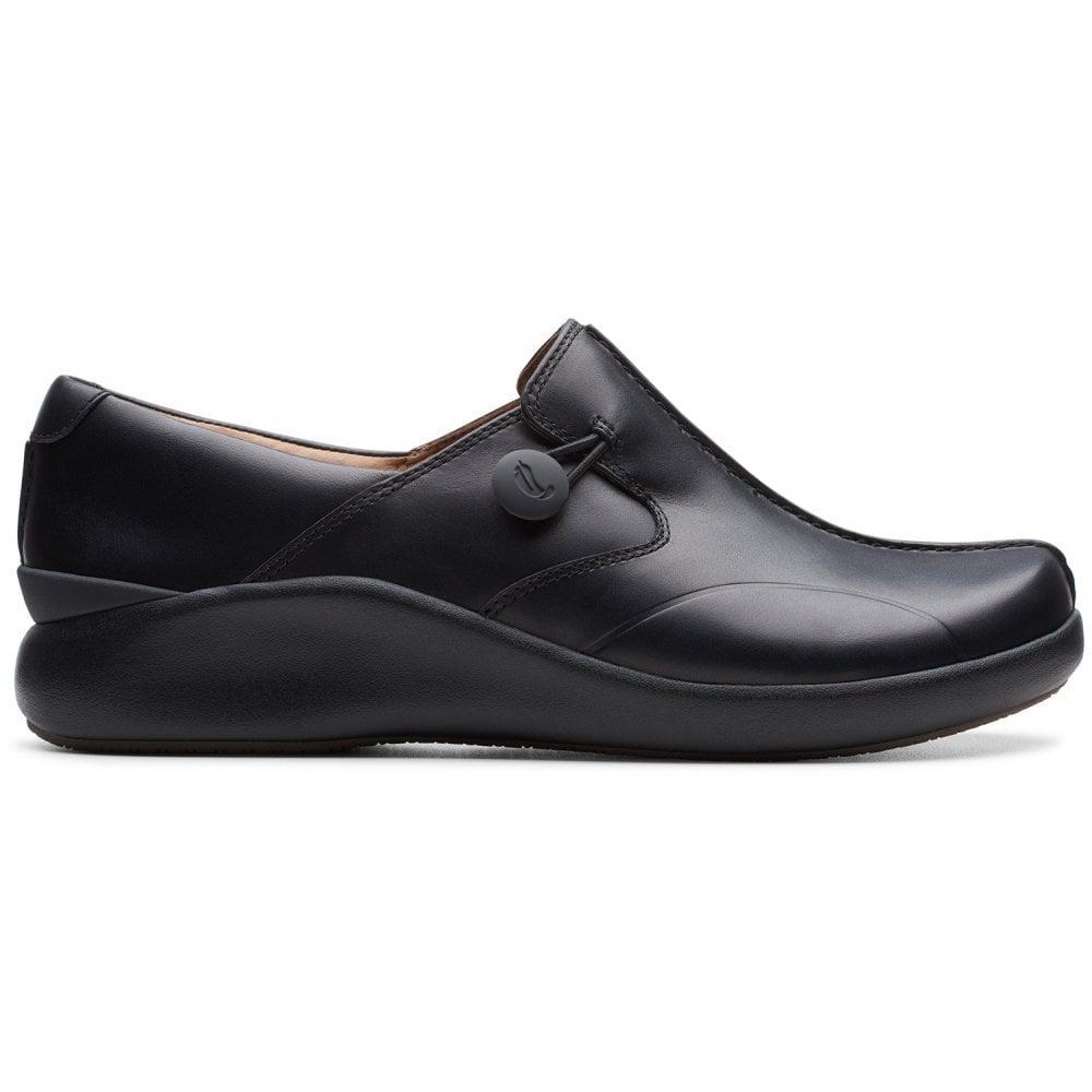 Clarks Un Loop 2 Walk Black Leather