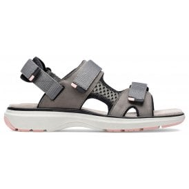 eb7d0bc525b3 Womens Un Roam Step Taupe Nubuck Velcro Sports Sandals 26141680