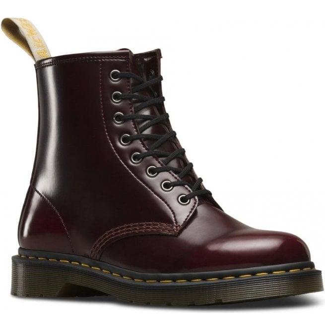 Dr Martens Dr Martens Womens Vegan 1460 Cherry Red Cambridge Brush Lace Up  Boots 23756600 0bbec5abd0