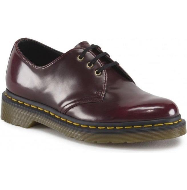b9f28e2f5df Dr Martens Dr Martens Womens Vegan 1461 Cherry Red Shoes 14046601