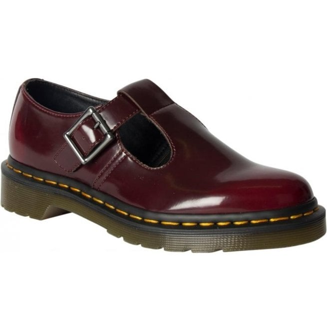 Dr Martens Womens Vegan Polley Cherry T-Bar Shoes 22759600 b8262ebf35