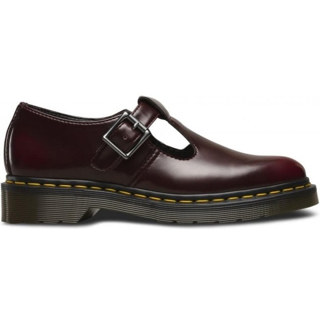 Dr Martens Vegan Polley Cherry Red T