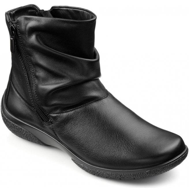 b12f9af14f230 Hotter Hotter Womens Whisper Extra Wide Black Leather Ankle Boots