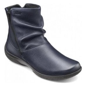 ddbccc39e Womens Whisper Extra Wide Rich Navy Leather Ankle Boots