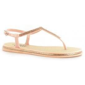 7b579fb17 Womens Winnie Rose Gold T-Bar Toe Post Sandals