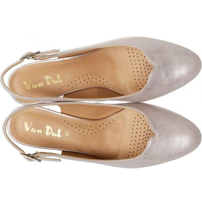 938c14081cb2 Van-Dal Womens Winton Bamboo Metallic Slingback Court Shoes 2686920
