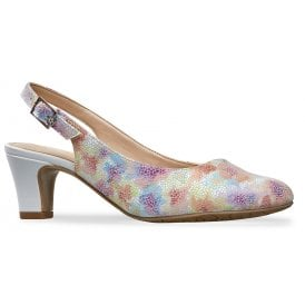 ca0cd5664d Womens Winton Meadow Print White Slingback Court Shoes 2686040 New In · Van  Dal ...
