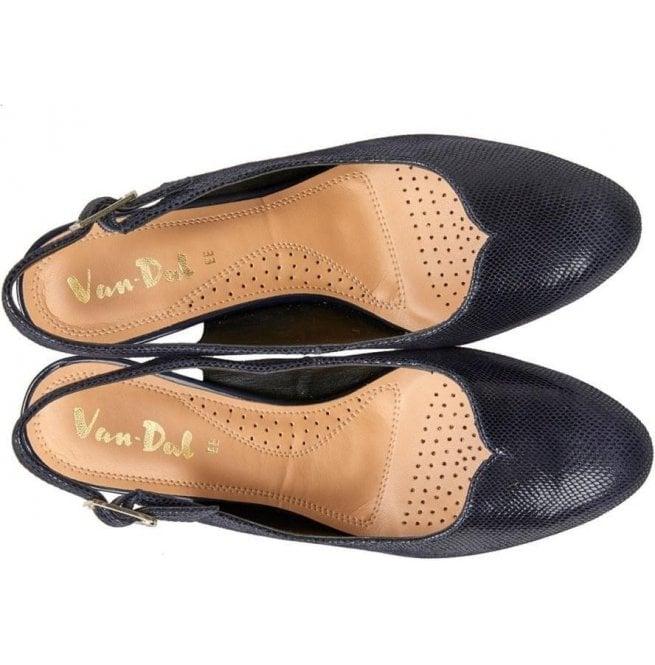 05baa8a7e063 Van-Dal Womens Winton Midnight Reptile Print Slingback Court Shoes ...